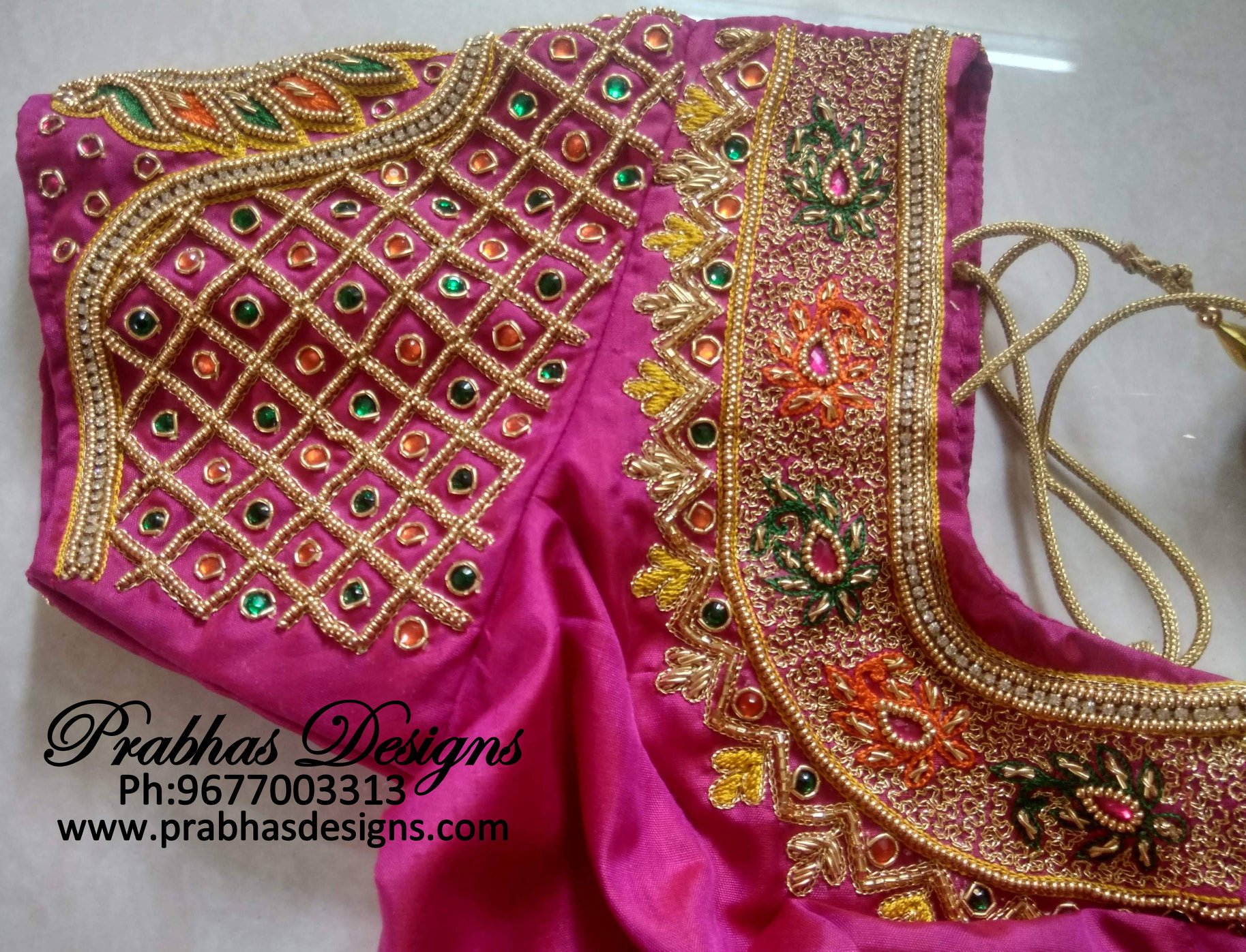 Best Aari Embroidery Classes Prabhas Designs 9677003313,Lace Simple Blouse Back Neck Designs Images